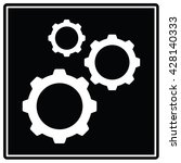 gear black sign. vector... | Shutterstock .eps vector #428140333