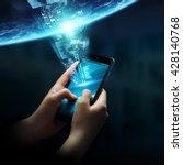 businesswoman using digital...   Shutterstock . vector #428140768