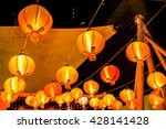 chinese lanterns in chinese new ... | Shutterstock . vector #428141428