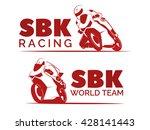 set of racing motorcycle logo...   Shutterstock .eps vector #428141443
