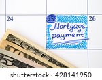 reminder mortgage payment in... | Shutterstock . vector #428141950