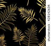 tropic pattern  leaves pattern  ... | Shutterstock .eps vector #428142634