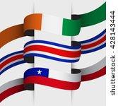 flag ribbon   vector... | Shutterstock .eps vector #428143444