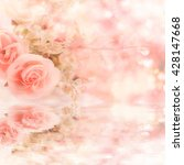 soft blurred of rose flowers... | Shutterstock . vector #428147668