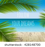 sunny summer day in a tropical... | Shutterstock .eps vector #428148700