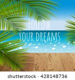 sunny summer day in a tropical... | Shutterstock .eps vector #428148736