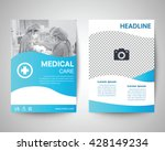 blue medical flyer template ... | Shutterstock .eps vector #428149234