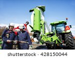 two mechanics  farmers with... | Shutterstock . vector #428150044