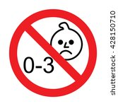 prohibition sign for children... | Shutterstock .eps vector #428150710