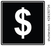 dollar black sign.vector...
