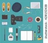 hipster flat design. modern... | Shutterstock .eps vector #428152438