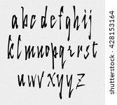 hand drawn font handwriting... | Shutterstock . vector #428153164