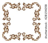 vintage baroque ornament. retro ... | Shutterstock .eps vector #428154058
