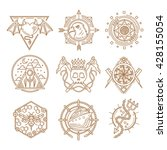 line vector logo emblems | Shutterstock .eps vector #428155054