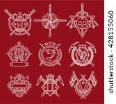 line vector logo emblems | Shutterstock .eps vector #428155060