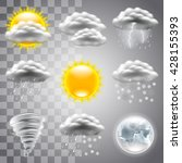 weather icons detailed photo... | Shutterstock .eps vector #428155393
