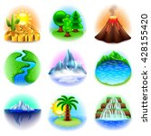 nature icons detailed photo... | Shutterstock .eps vector #428155420