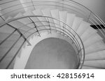 curve step down background ... | Shutterstock . vector #428156914