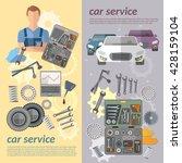car service car banner auto... | Shutterstock .eps vector #428159104