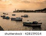 boats in the bay of havana in... | Shutterstock . vector #428159314