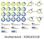 vector percentage infographics....   Shutterstock .eps vector #428163118
