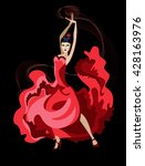 vector image of a dancer latin... | Shutterstock .eps vector #428163976