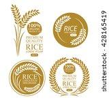 rice. vector illustration. | Shutterstock .eps vector #428165419
