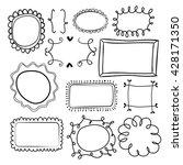 set of 12  hand drawn frames.... | Shutterstock .eps vector #428171350