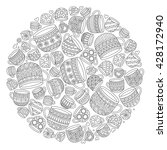 pattern for coloring book with... | Shutterstock . vector #428172940