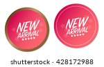 new arrival stickers | Shutterstock .eps vector #428172988