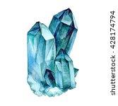 watercolor aquamarine....   Shutterstock . vector #428174794
