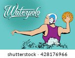 summer kinds of sports. water... | Shutterstock .eps vector #428176966