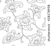 floral pattern. wallpaper ... | Shutterstock .eps vector #428178958