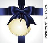 illustration of blue ribbon bow ... | Shutterstock .eps vector #428179498