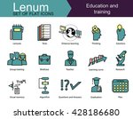 set of 15 colored icons on... | Shutterstock .eps vector #428186680