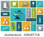 stylized flat symbols of... | Shutterstock .eps vector #428187718