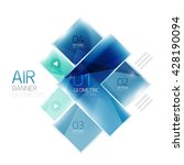 glass arrow design template.... | Shutterstock .eps vector #428190094