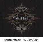 vintage typographic label... | Shutterstock .eps vector #428193904