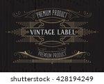 vintage typographic label... | Shutterstock .eps vector #428194249