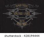 vintage typographic label... | Shutterstock .eps vector #428194444