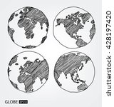 globe. vector illustration. | Shutterstock .eps vector #428197420