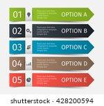 modern infographic lines set.... | Shutterstock .eps vector #428200594