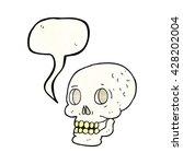 freehand speech bubble textured ... | Shutterstock .eps vector #428202004