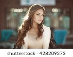 portrait of a sensual young... | Shutterstock . vector #428209273