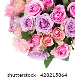 Pink And Violet Fresh Roses...