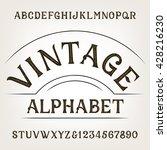 vintage alphabet. retro... | Shutterstock .eps vector #428216230