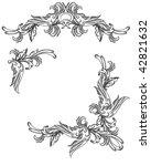 vector set of scroll design... | Shutterstock .eps vector #42821632