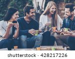 spending time with friends.... | Shutterstock . vector #428217226