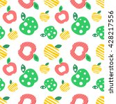 seamless vector pattern with... | Shutterstock .eps vector #428217556