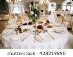 elegant wedding reception white ... | Shutterstock . vector #428219890